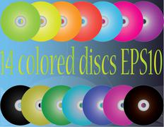 colored discs - stock illustration