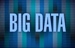 big data binary illustration design - stock illustration