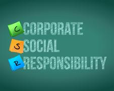 Corporate responsibility management post Stock Illustration