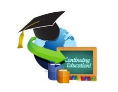 continuing education concept illustration - stock illustration