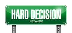 Hard decision road sign illustration design Stock Illustration