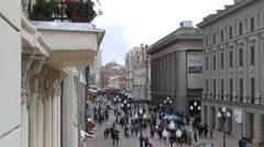 Old Arbat Street Stock Footage