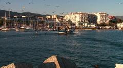 Fishing boat returns, Estepona Stock Footage