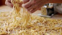 0100 Home made tagliatelle Stock Footage