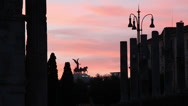 Stock Video Footage of Silhouette Rome Ancient city at sunset 1