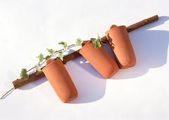 Pot for Wall Hangings - stock photo