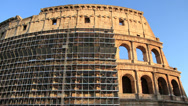Stock Video Footage of Scaffolding on Rome's Colosseum 2