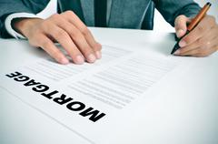 Mortgage loan contract Stock Photos