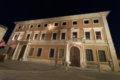 San quirico palace Stock Photos