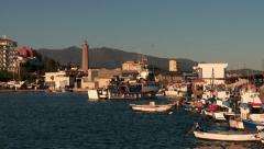 Trawler leaving port,  Estepona, Spain Stock Footage