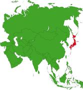 Japan map Stock Illustration