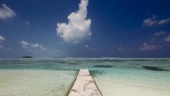 Hudhuranfushi beach, North Male Atoll - stock footage
