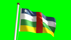 Central Africa flag - stock footage