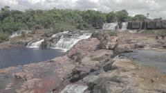 Orinduik Falls in Brazil and Guyana Stock Footage