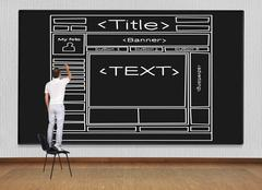 drawing  template  webpage - stock photo