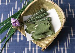 Chimaki and Kashiwa-mochi Stock Photos
