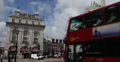 Ultra HD 4K Piccadilly Circus London UK Double Decker Bus Passing Traffic Day Footage