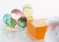 Soap and Bath Articles - stock photo