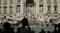 Tourists taking pictures of Trevi fountain Rome Footage
