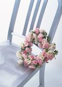 Stock Photo of Chair and Wreath