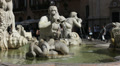 Fontana del Moro  (Moor Fountain), Rome HD Footage