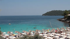 Beach from Greek island Stock Footage