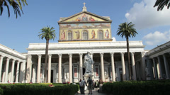 Basilica of Saint Paul Outside the Walls, Rome Stock Footage