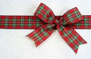 Stock Photo of Plaid Christmas Bow