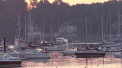 Daybreak at Marblehead, Massachusetts - stock footage