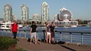 Stock Video Footage of People exercising at False Creek 02