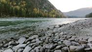 Stock Video Footage of Coast Mountain Katun river in the Altai, Russia