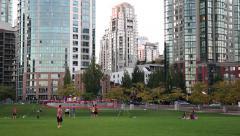 Vancouver's David Lam Park 01 Stock Footage