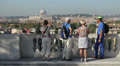 Tourists taking picture of Rome Footage