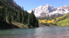 Maroon Bells in Fall Stock Footage