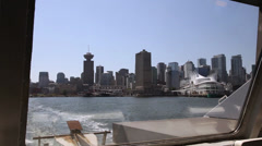 Downtown Vancouver seen from Vancouver's SeaBus Stock Footage