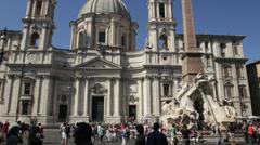 Piazza Navona, Rome Stock Footage