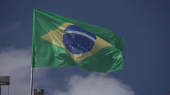 Brazilian Flag - stock footage