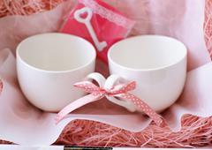 Pair mug gift set - stock photo