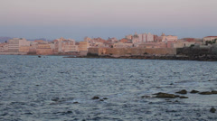 0109 Trapani at dusk Stock Footage