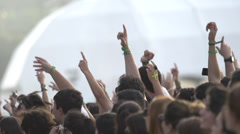 Concert Crowd Jumping Stock Footage