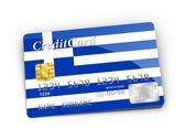 Stock Illustration of credit card covered with  greek flag