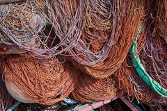 commercial fishing net. - stock photo