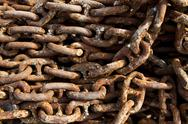 Heap of rusty chain Stock Photos