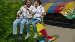 Chain Swing Ride Stock Footage