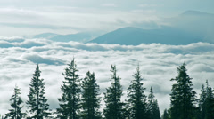 Cloudy mountain time-lapse - stock footage
