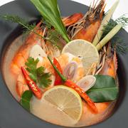 Spicy seafood soup Stock Photos