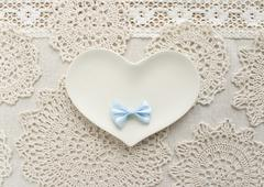 Lace and a heart - stock photo