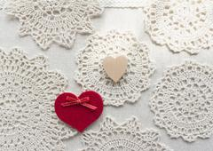 Stock Photo of Lace and hearts