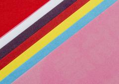 Colorful figured papers Stock Photos