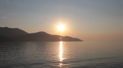 Sunset over the Thasos Island Stock Footage